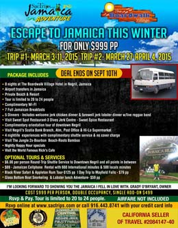 Escape to Jamaica This Winter for only $999