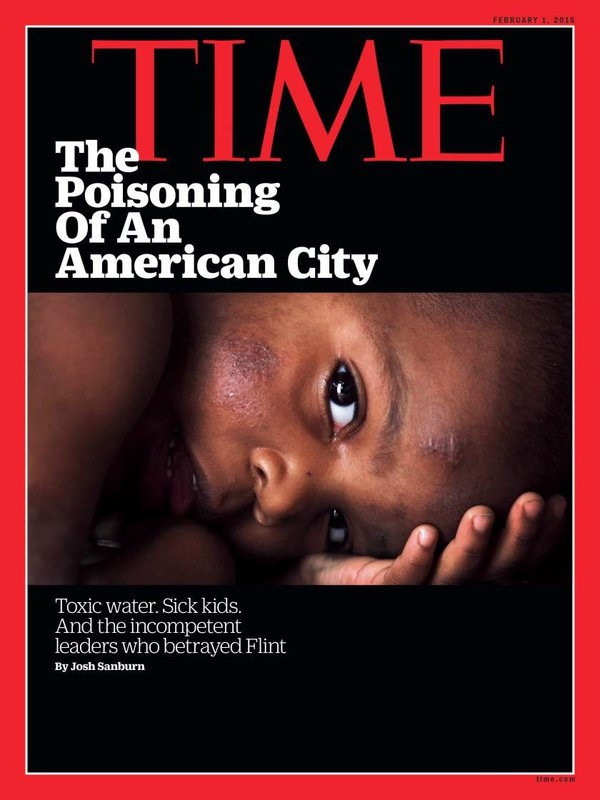 TIME Magazine Highlights Flint Water Crisis On Cover: 'The Poisoning Of An American City'