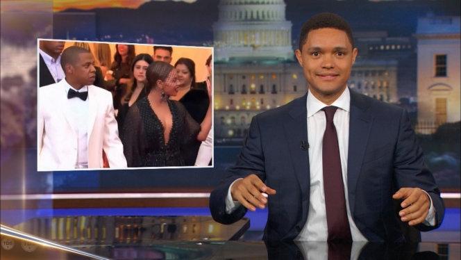 Trevor Noah can't contain his excitement about Beyoncé, Jay-Z's twins