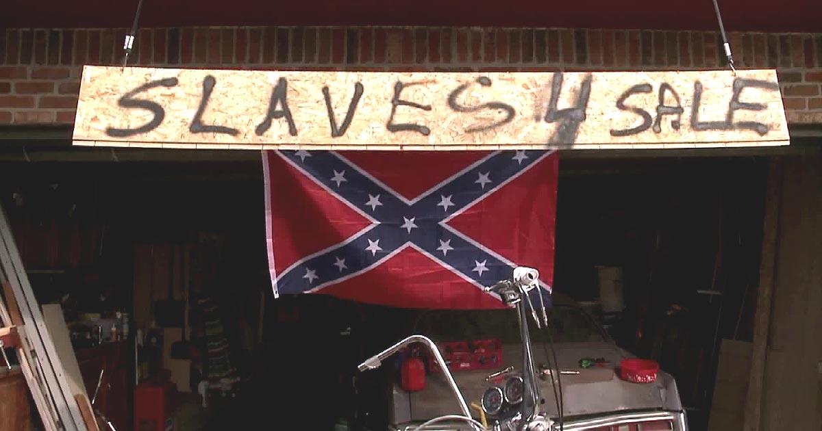 Missouri man explains his 'Slaves 4 Sale' sign