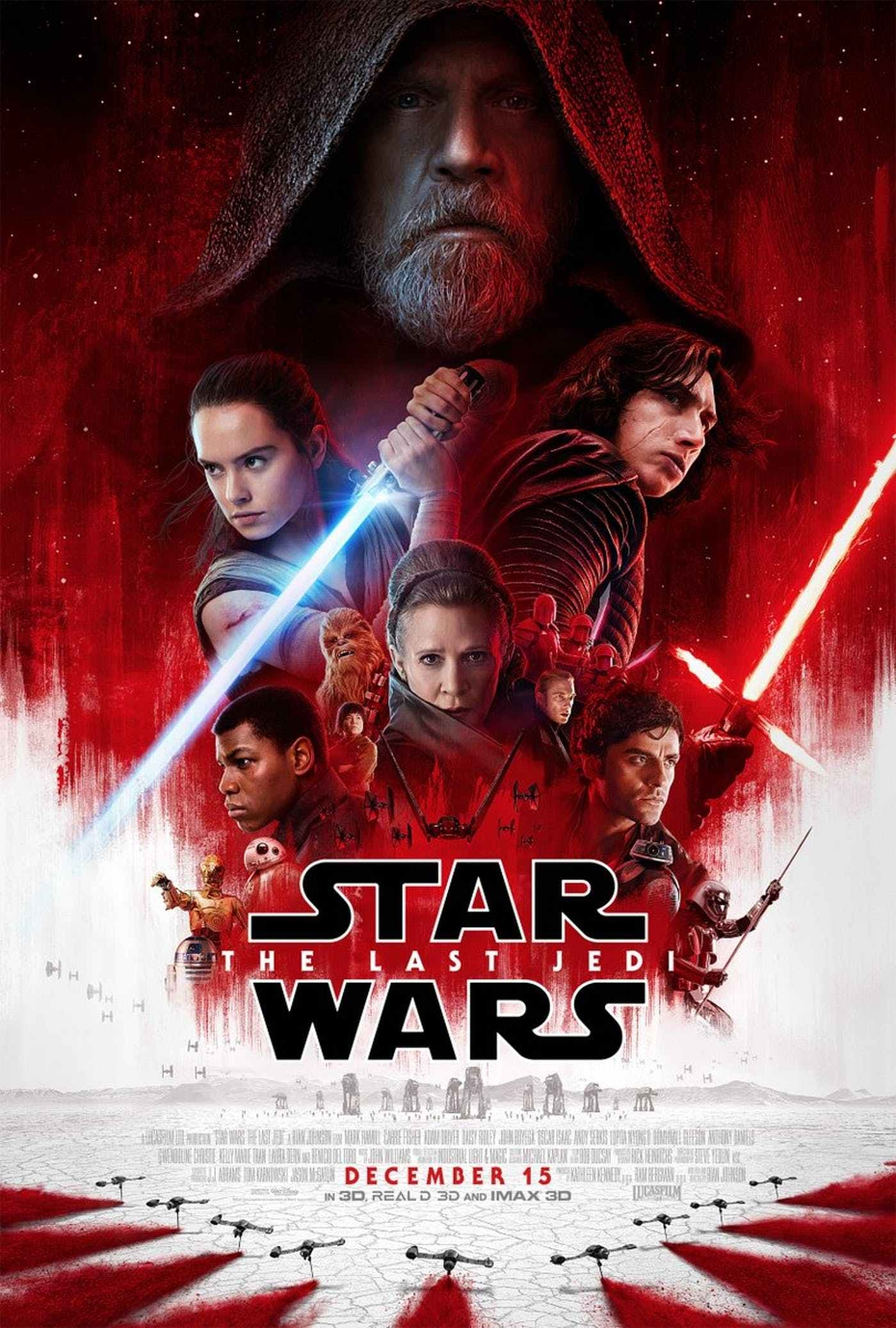 Star Wars: The Last Jedi, opening in theaters December 15th