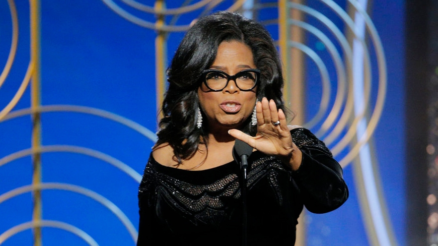 Oprah calls out sexual abusers during rousing Globes speech
