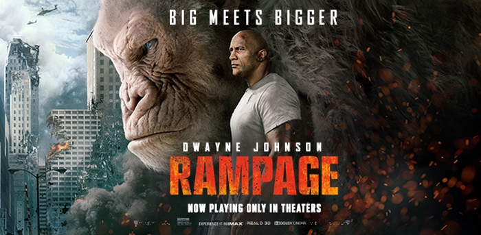 Primates & 'Gators & Wolves!  Oh, Sh&t!  A HUB Film Review:  Rampage (PG-13)