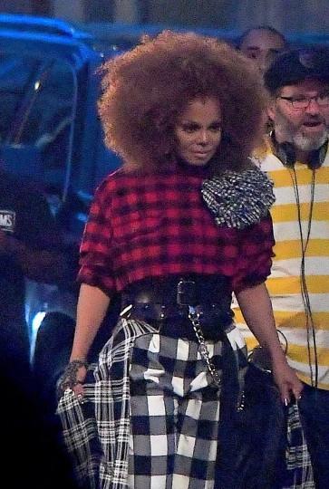 Janet Jackson films music video in Brooklyn