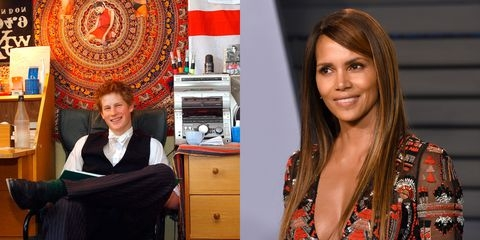 Halle Berry Has the Best Reaction to Prince Harry's Photo of Her From His Dorm Room