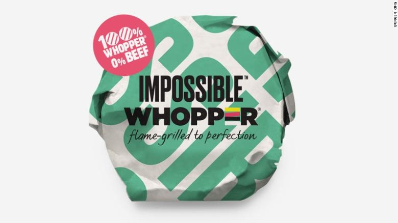 Burger King is testing out the Impossible burger