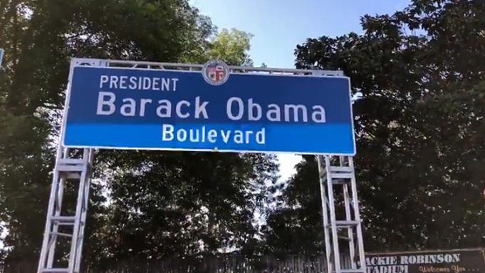 Los Angeles Renames Street 'Obama Boulevard' in Honor of Former President