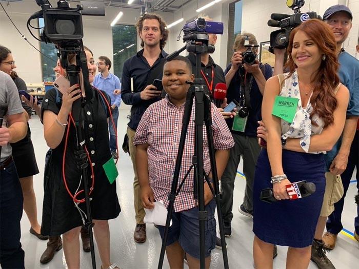 Watch 11-Year-Old Jaden Interview Elizabeth Warren