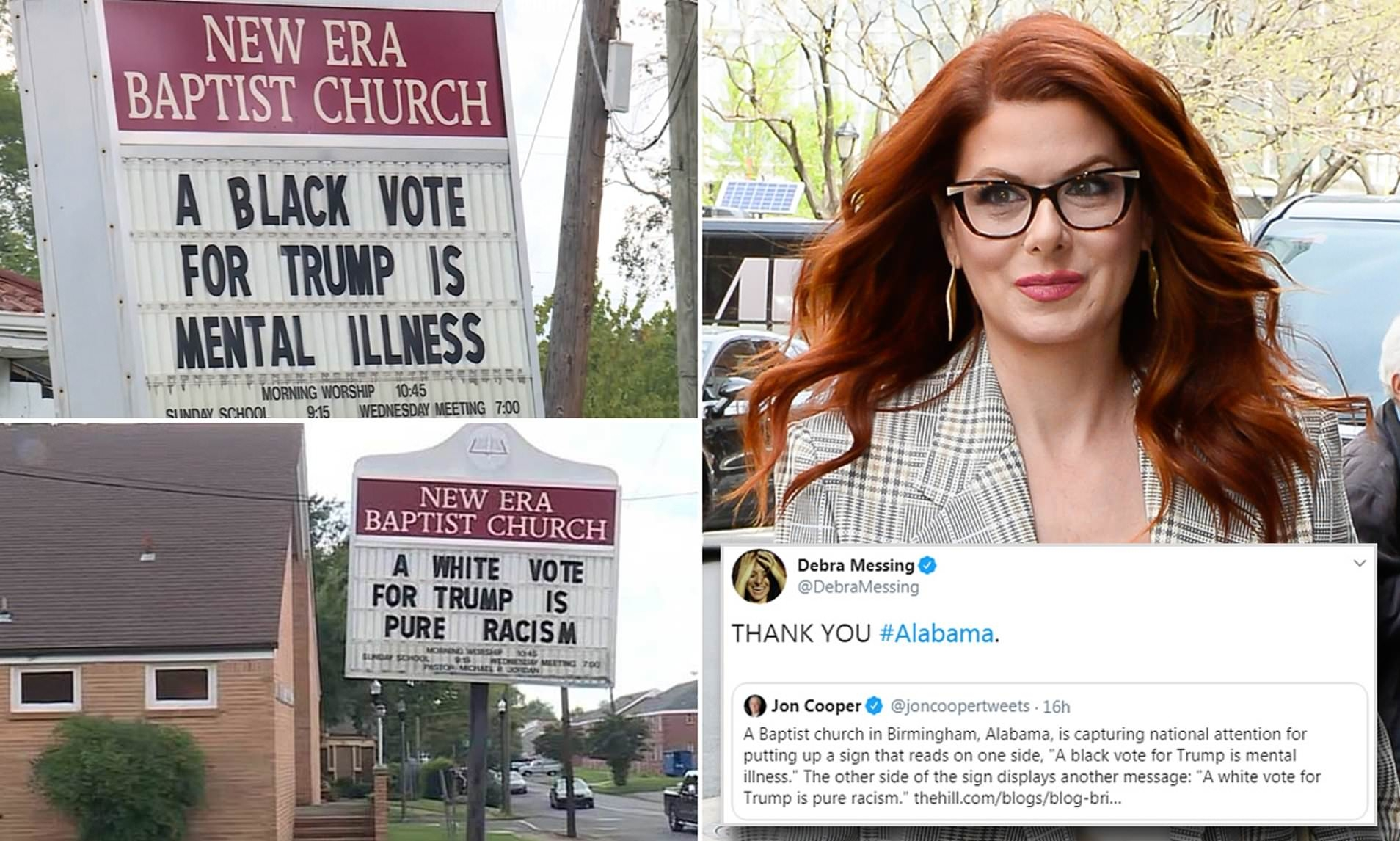 'Will & Grace' star celebrates sign calling black Trump voters mentally ill