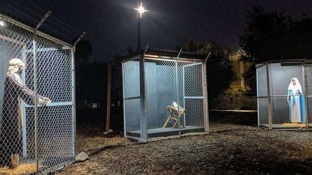 California Nativity Scene Depicting, Jesus, Mary, Joseph Caged In Trump-Style Camp Goes Viral