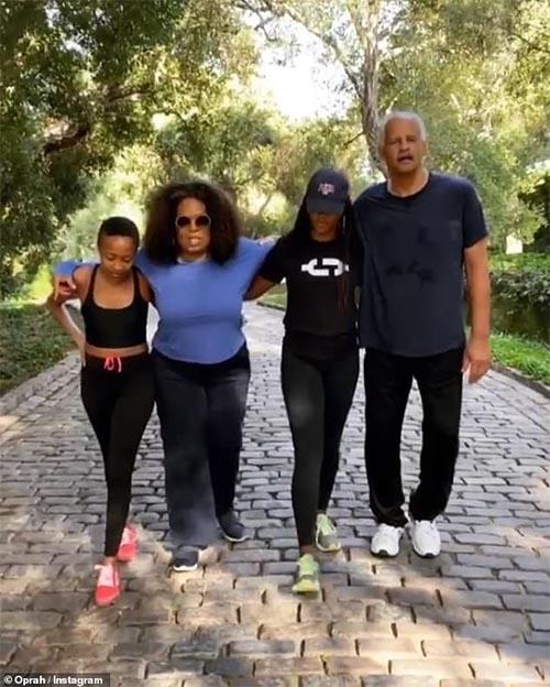 Oprah walks 2.26 miles to mark Ahmaud Arbery's 26th birthday