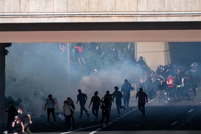 Tear gas is more dangerous than police let on — especially during the pandemic