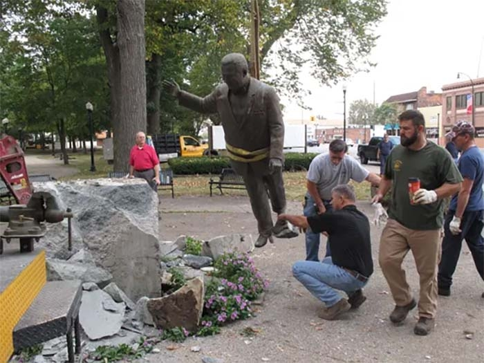 Statue of Former Longtime Michigan Mayor Removed Following Protests