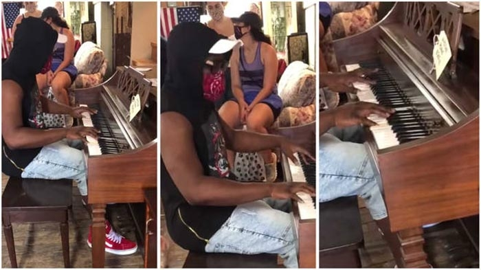 A random guy played incredible piano at an antique store, so they gave it to him