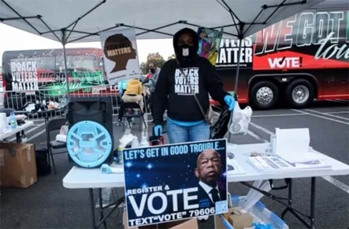 Black, Latino, Asian and Native Americans flock to polls amid deadly, difficult year for brown and Black people