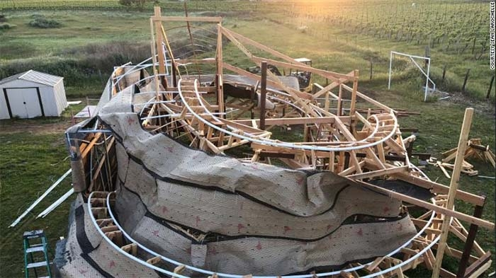 A love for Disney and sheltering in place gave birth to a roller coaster in a California backyard
