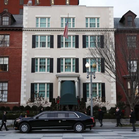 Kamala Harris takes up residence in Biden's White House-adjacent guesthouse