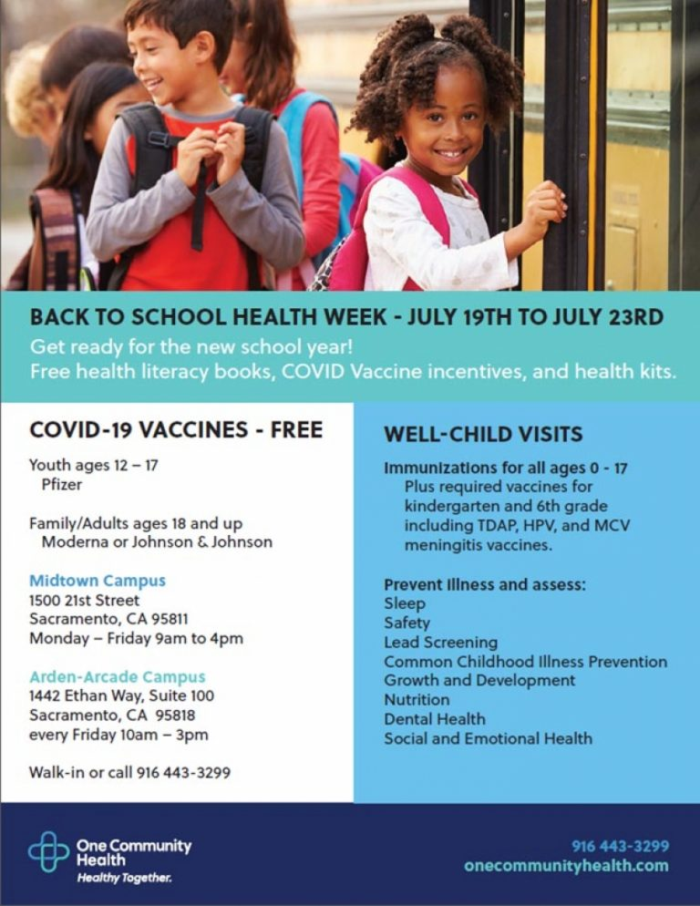 Did you know: Back To School Health Week – July 19th to July 23rd