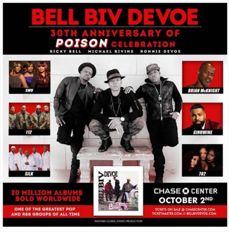Don't miss the BBD Anniversary of Poison Celebration at Chase Center in San Francisco