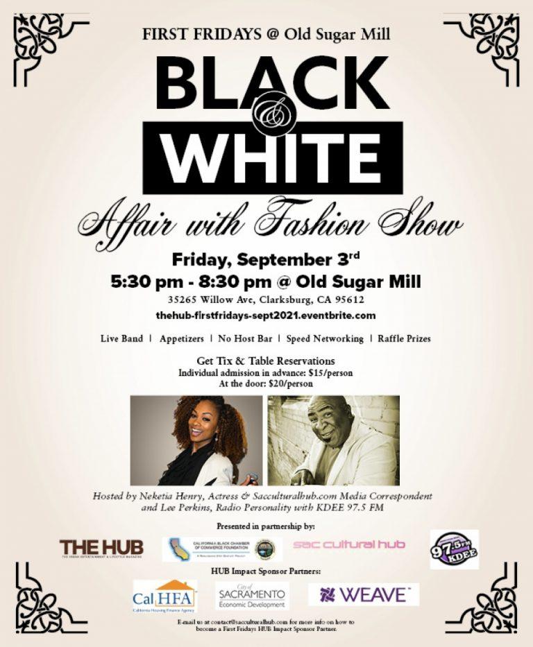 FIRST FRIDAYS Black & White Affair special event