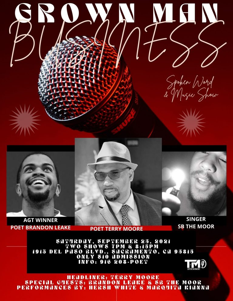 Grown Man Buisiness Poetry & Music Show