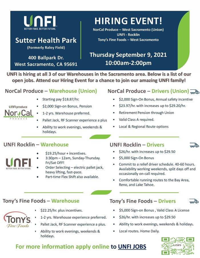 UNFI Hiring Event in Sacramento