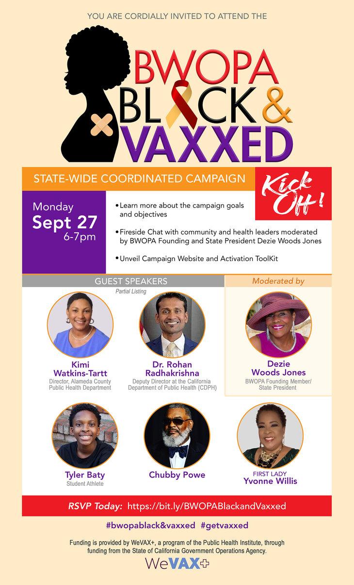 BWOPA Black & Vaxxed Campaign Kick-Off