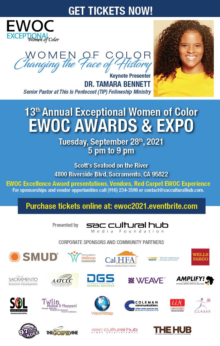 Get Tickets – 13th Annual EWOC Awards & Expo featuring Keynote Speaker, Dr. Tamara Bennett